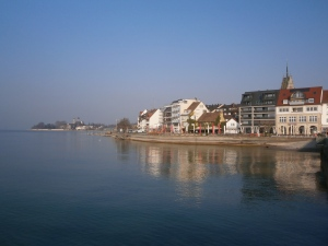 Friedrichshafen, on the shores of Lake Constance, home of the Zeppelins.