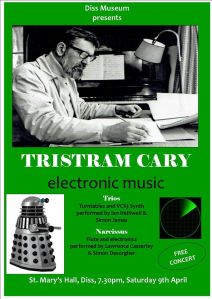 Concert at St. Mary's Hall, Diss, on Saturday 9 April.